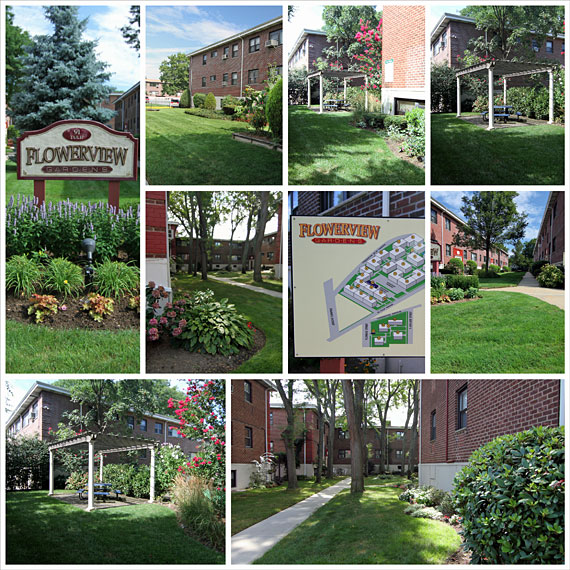 Collage of Flowerview Gardens