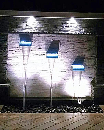 Lighted Water Wall
