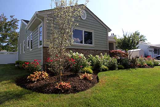 landscaping and flower beds